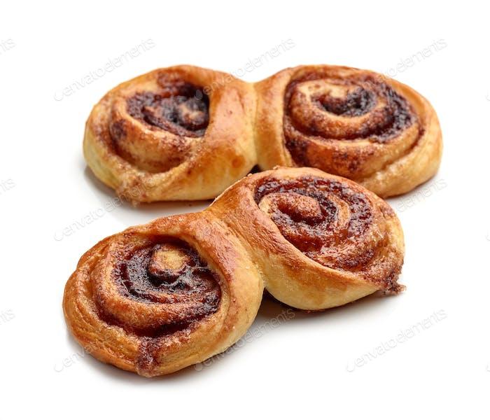 frisch gebackene süße Brötchen