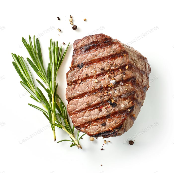 grilled steak and rosemary