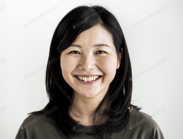 Asiatische ethnische Frau Porträt schießen in ein Studio