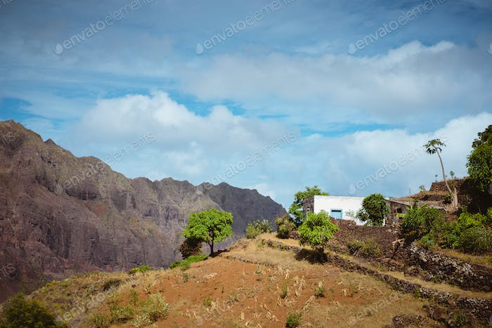 Mountainous area of Corda, Santo Antao Island, Cape Verde