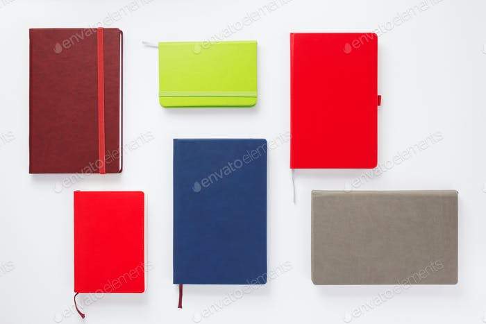 notebook or book with empty pages on white  background