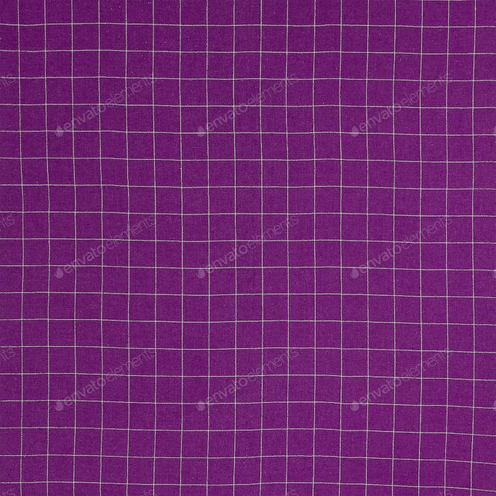 Purple checkered fabric background