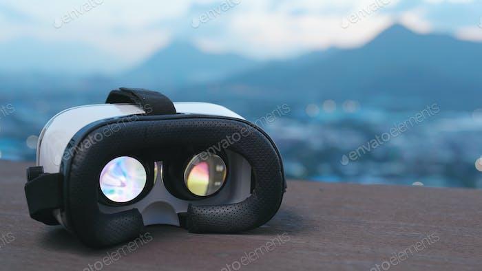 Virtual Reality Gerät Wiedergabe von Film im Inneren