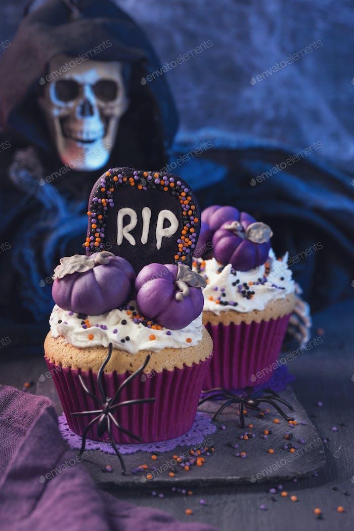 Cupcakes con calabazas