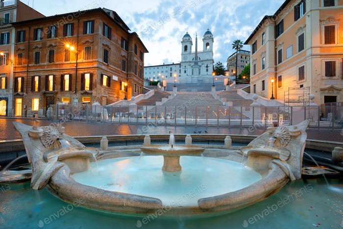 Spanish Steps and Fontan