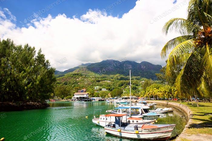 Marina in Seychelles