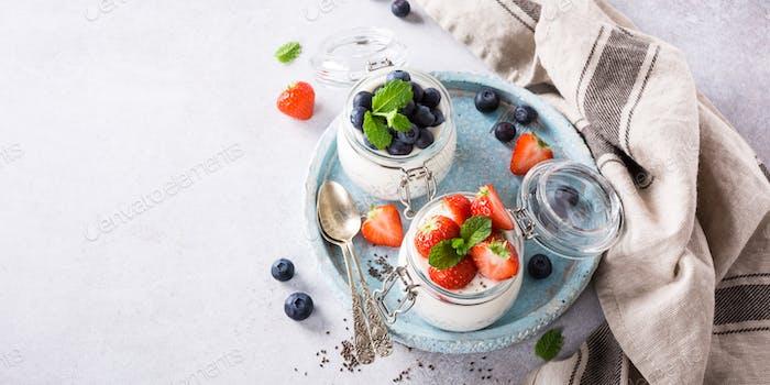 Chia Pudding zum Frühstück