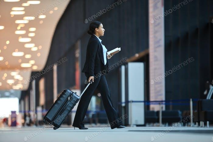 Walking to airplane station