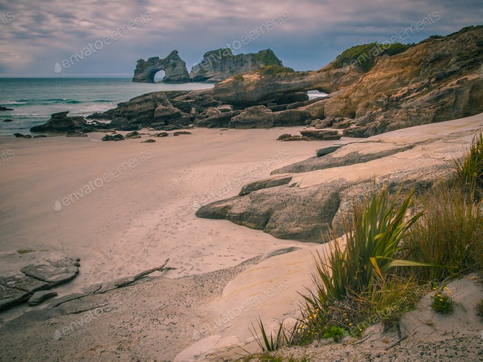 Coastal Rocks on Wharariki Beach