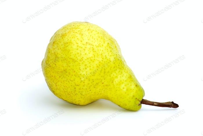 Lying yellow-green pear