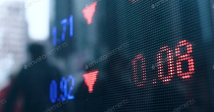 Stock market prices in the city