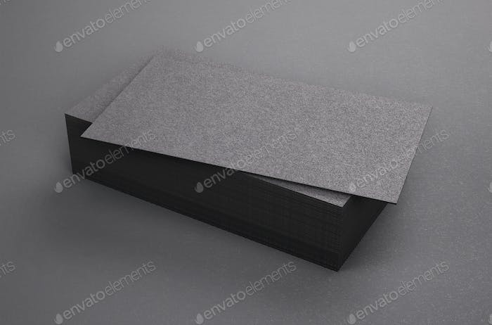 3d rendering of business card blank template black business cards 3d rendering of business card blank template black business cards on black background reheart Image collections