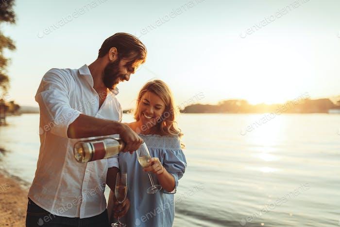 A romantic picnic