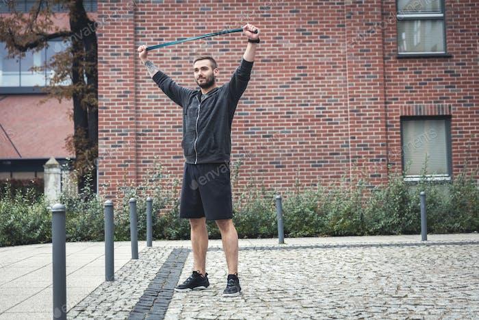 Sportaktivität des Menschen im Stadtbild