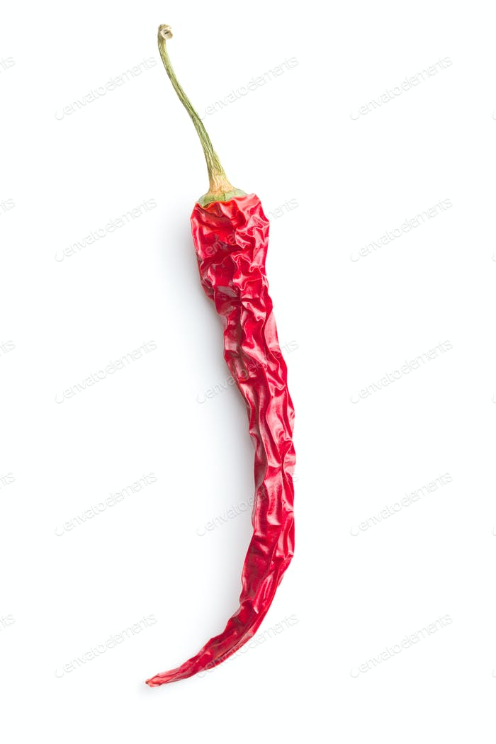 Dried chili pepper.