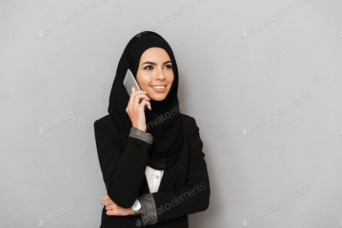 Portrait of a smiling young arabian woman