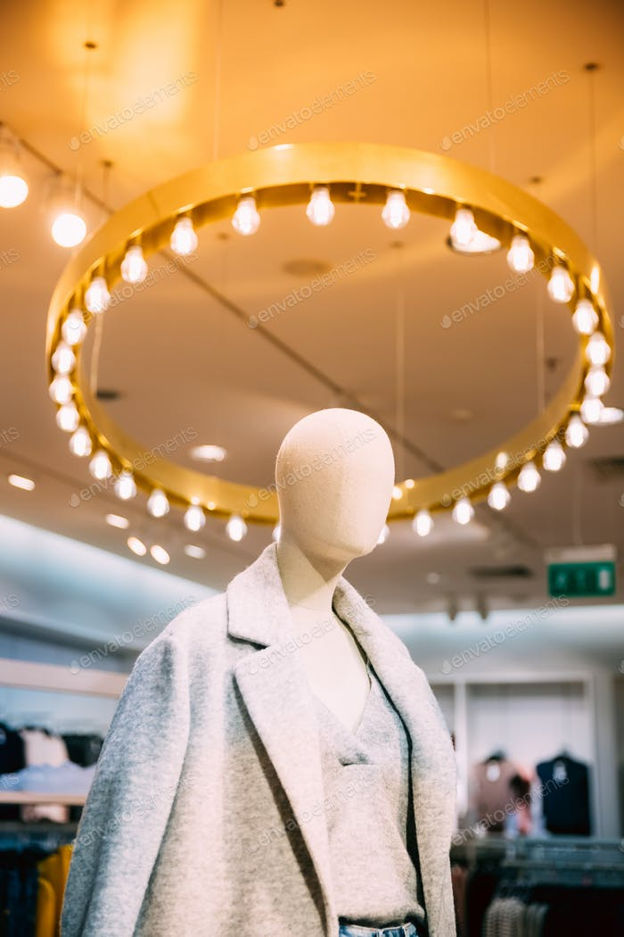 Close View Of Mannequin Dressed In Female Woman Casual Clothes I