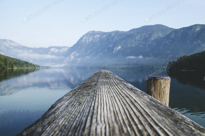 A different view of the Lake Bohinj