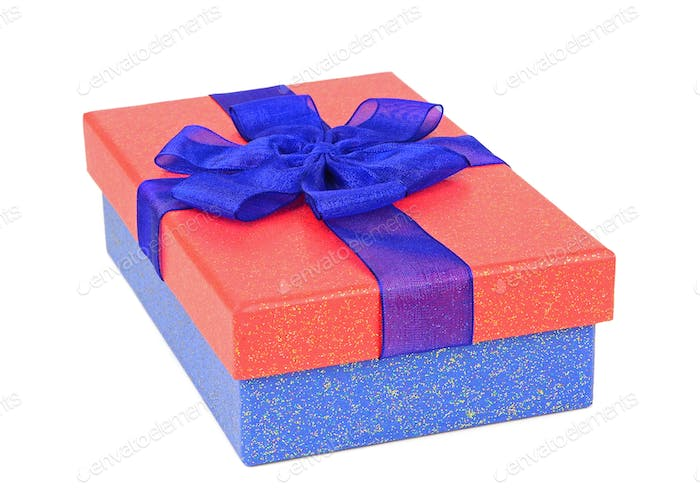 A Red and Blue Gift Box