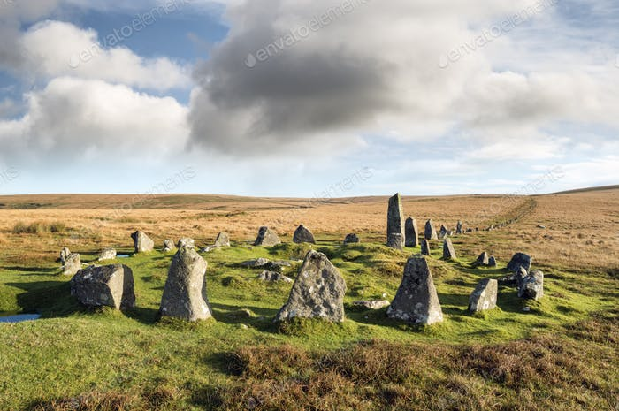 Dartmoor Stone Circle at Down Tor