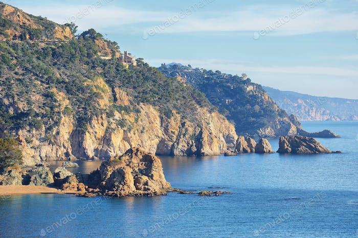 Mediterranean village of Tossa de Mar, Spain