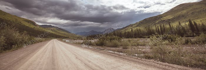 Straße auf Alaska