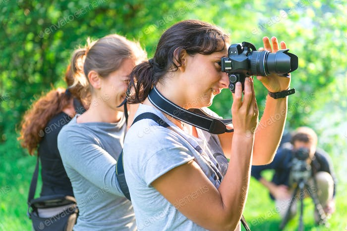 Participants in Photography Course