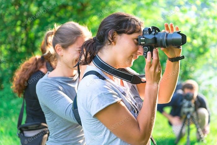 Teilnehmer am Fotokurs