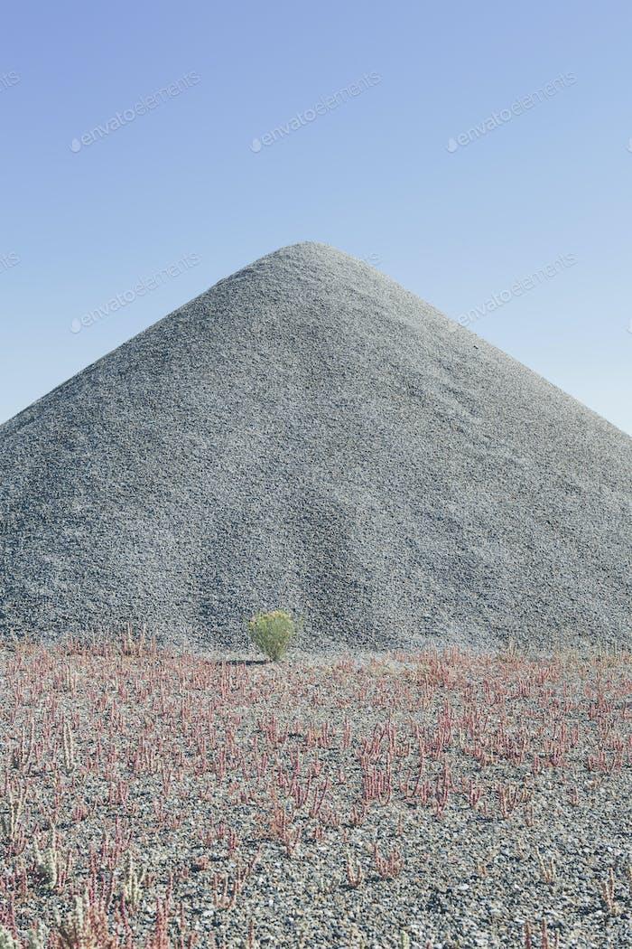 Gravel pile in desert, near Wendover, Utah