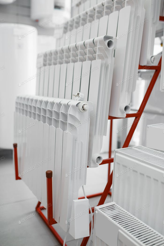 Water heating radiators, plumbering store