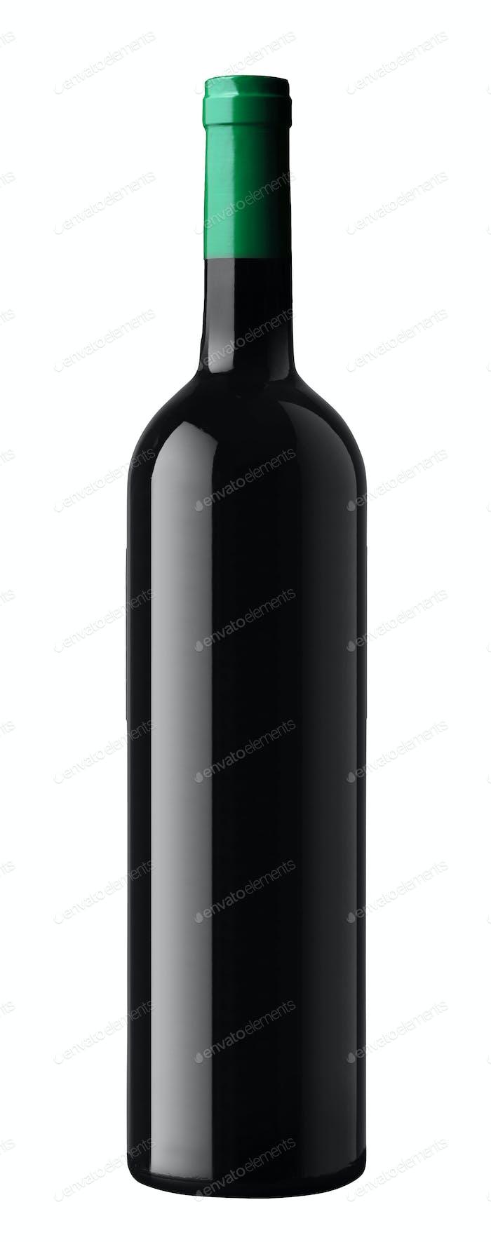 wine bottle isolated on whit?