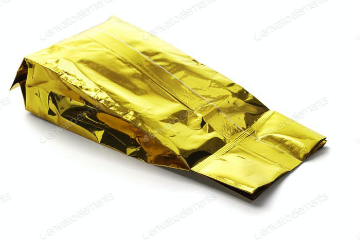 Golden Yellow Aluminum Pouch