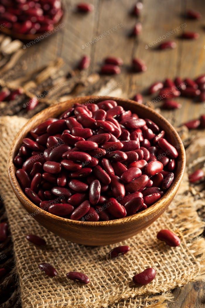 Rohe rote Bio Kidney Bohnen
