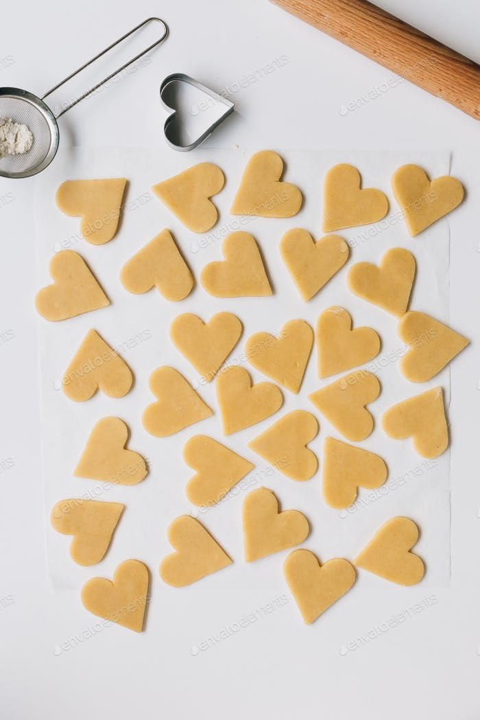 Making Heart Shaped Biscuits