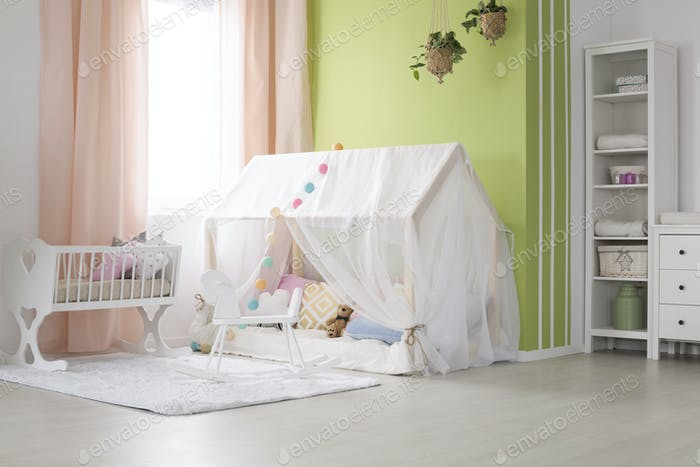 Decorated baby room