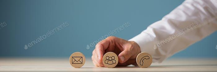 Concepto de atención al cliente e información