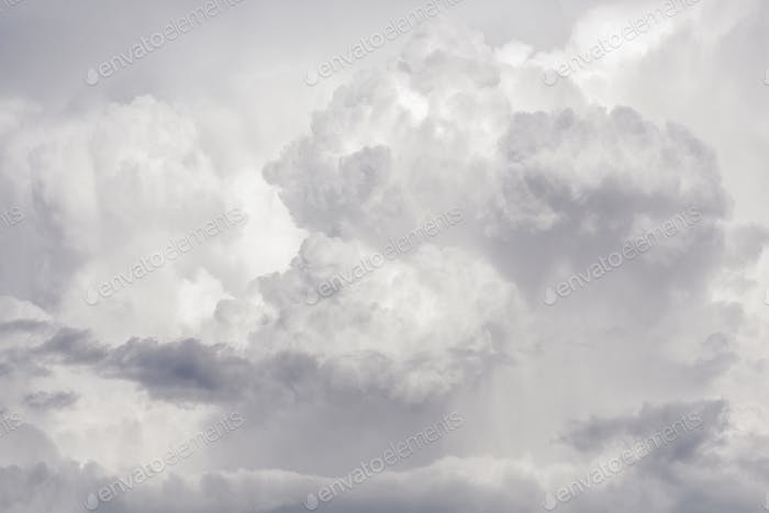 Background thunderstorm clouds purple