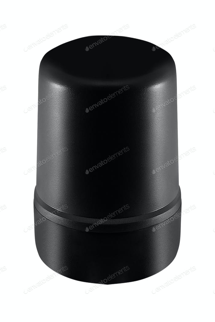 Empty plastic cup isolated