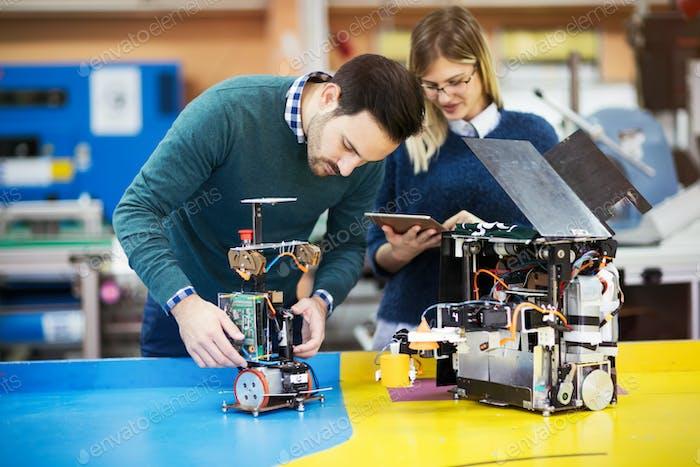 Engineering and robotics student