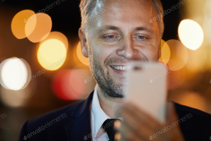 Selfie of businessman