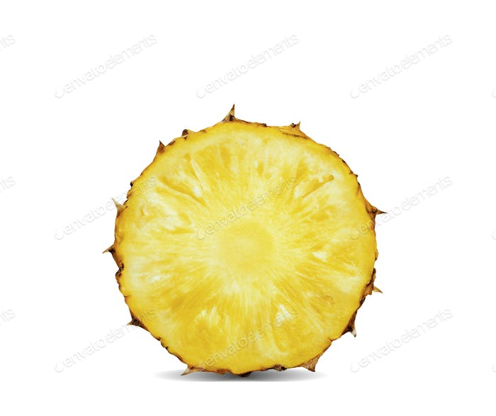 Pineapple of cut on white background