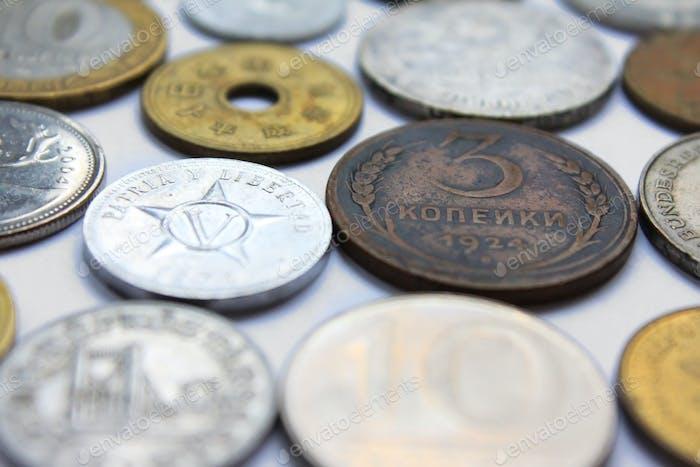 Münzen aus verschiedenen Ländern