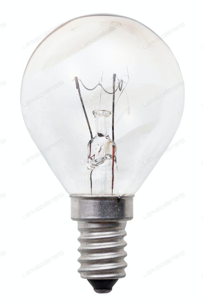 transparente Glühbirne