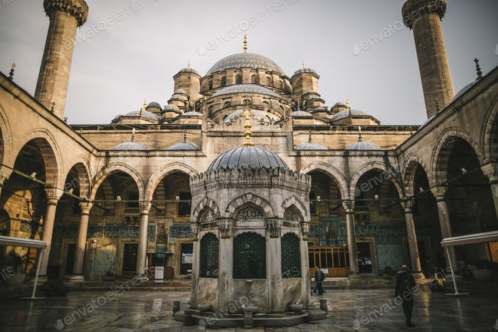 low angle view of suleymaniye mosque in Istanbul, Turkey