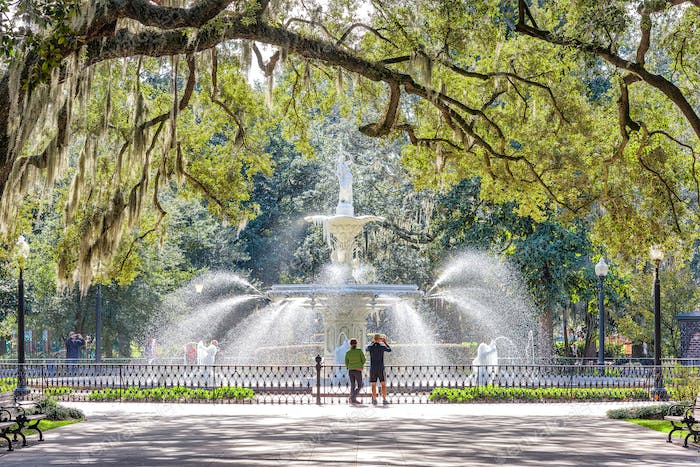 Forsyth Park, Savannah, Georgia, USA