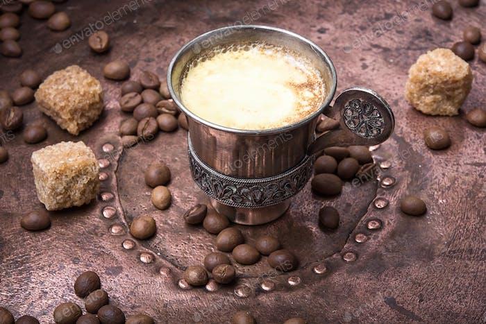 Coffee mug in the oriental style
