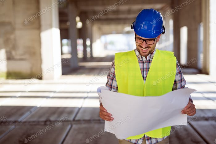 Thumbnail for Engineers working on a building site