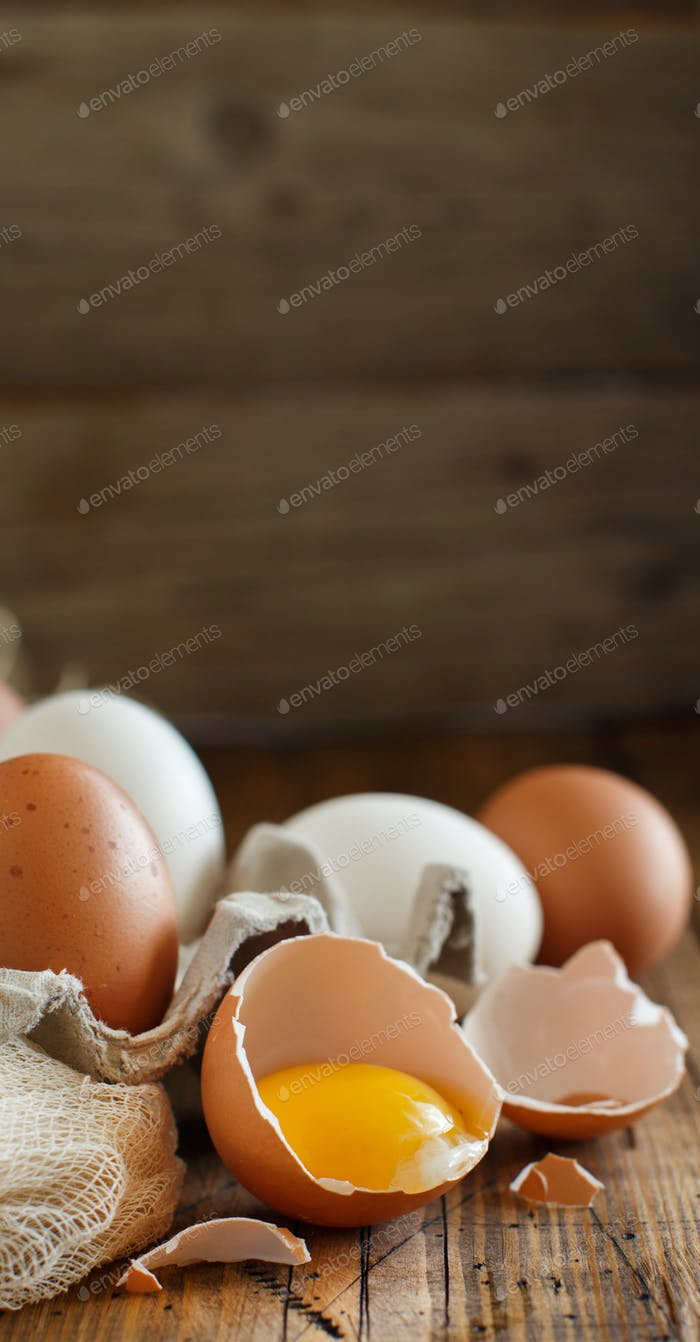 Сhicken eggs close up