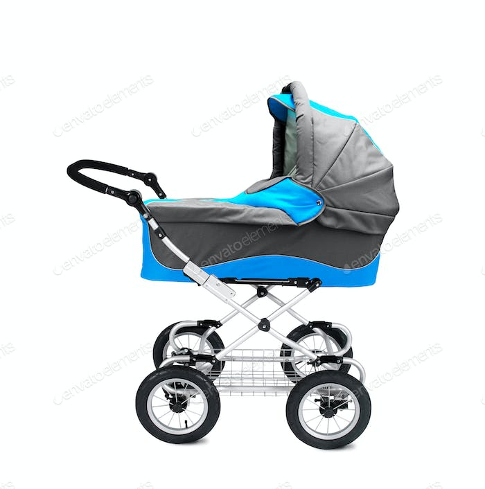 modern pram isolated