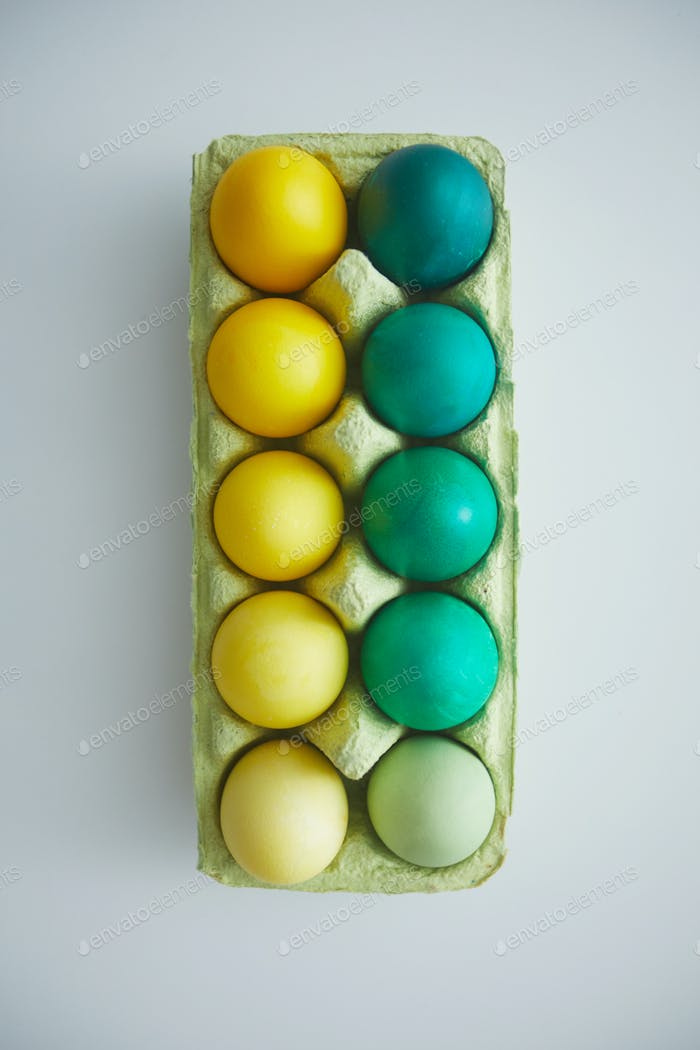Naturl Colors for Easter Eggs